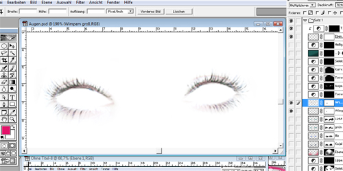 Wimpern Make-up Photoshop