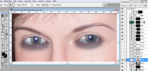 Augen Make-up Kajal