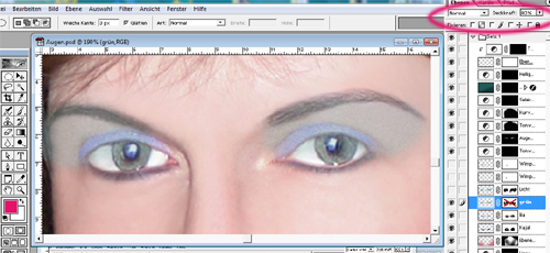 Tutorial Lidschatten Photoshop