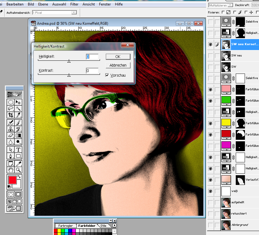 Warhol Pop-Art Tutorial 9