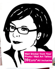 Wall Art Tattoo from Your Photo